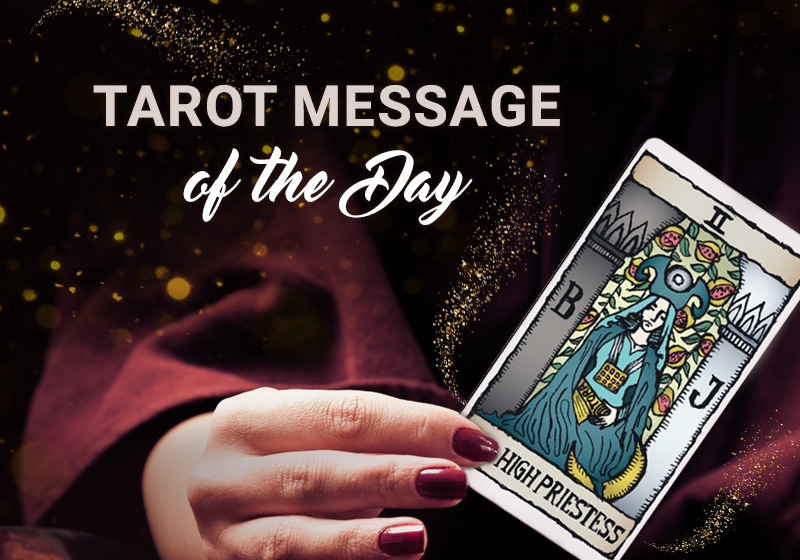 Tarot card message High Priestess